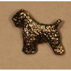 wheaten terrier brooch