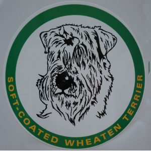 car sticker wheaten head