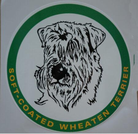 car sticker wheaten head