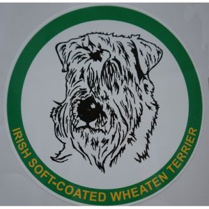 car sticker irish wheaten terrier