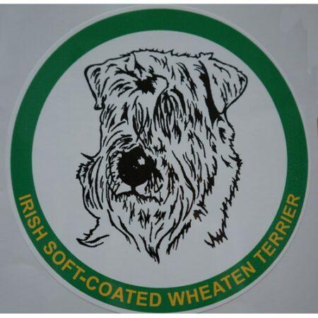 car sticker irish wheaten terrier