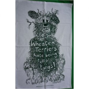 fuzzy peg tea towel