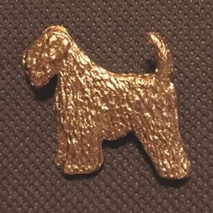 brooch gold effect